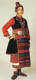 Νυφική φορεσιά Ορεινής Σερρών
